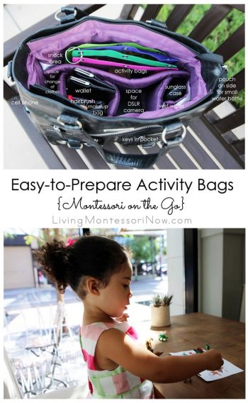 Easy-to-Prepare Activity Bags {Montessori on the Go}