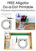 Free Alligator Do-a-Dot Printable (Montessori-Inspired Instant Download) – Montessori Monday