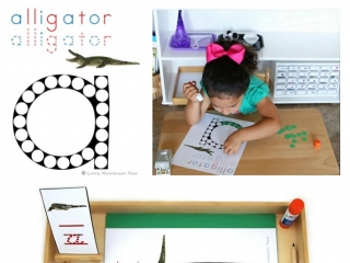 FREE Alligator Do-a-Dot Printable (Montessori-Inspired Instant Download)