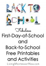 Fabulous First-Day-of-School and Back-to-School Free Printables and Activities