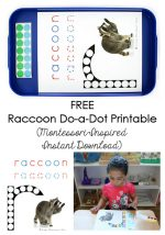 FREE Raccoon Do-a-Dot Printable {Montessori-Inspired Instant Download}