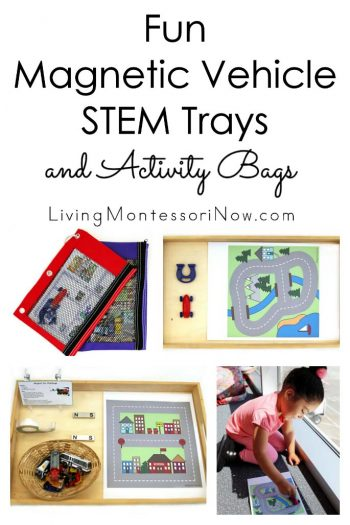 Fun Magnetic Vehicle STEM Trays and Activity Bags