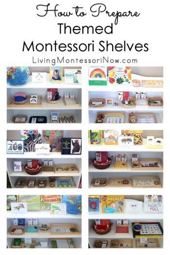How to Prepare Themed Montessori Shelves