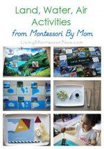 Montessori Monday – Land, Water, Air Activities from Montessori By Mom