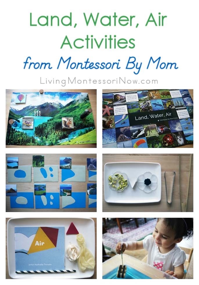 Land, Water, Air Activities from Montessori By Mom