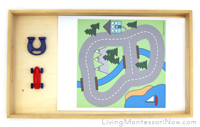 Magnetic Racer Tray and STEM Activity