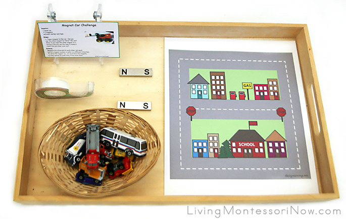 Magnetic Vehicle Tray and STEM Activity
