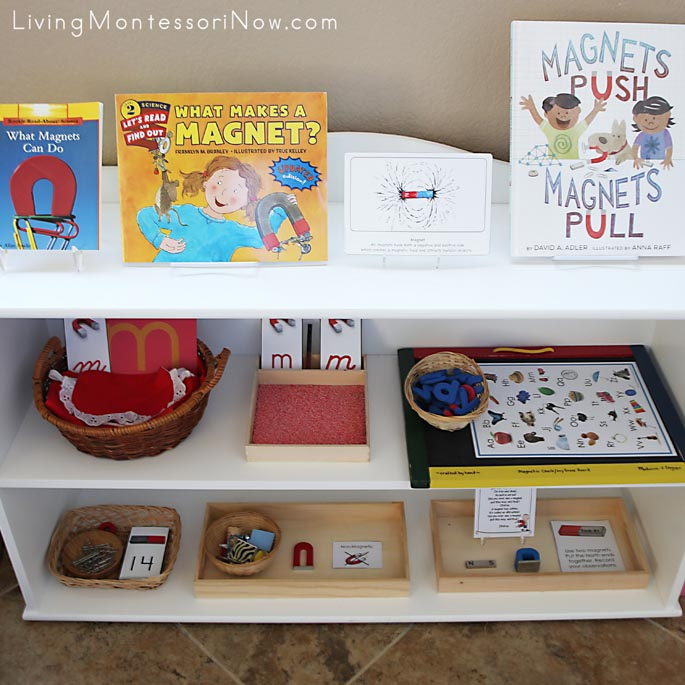 Montessori Shelves with a Magnet Theme