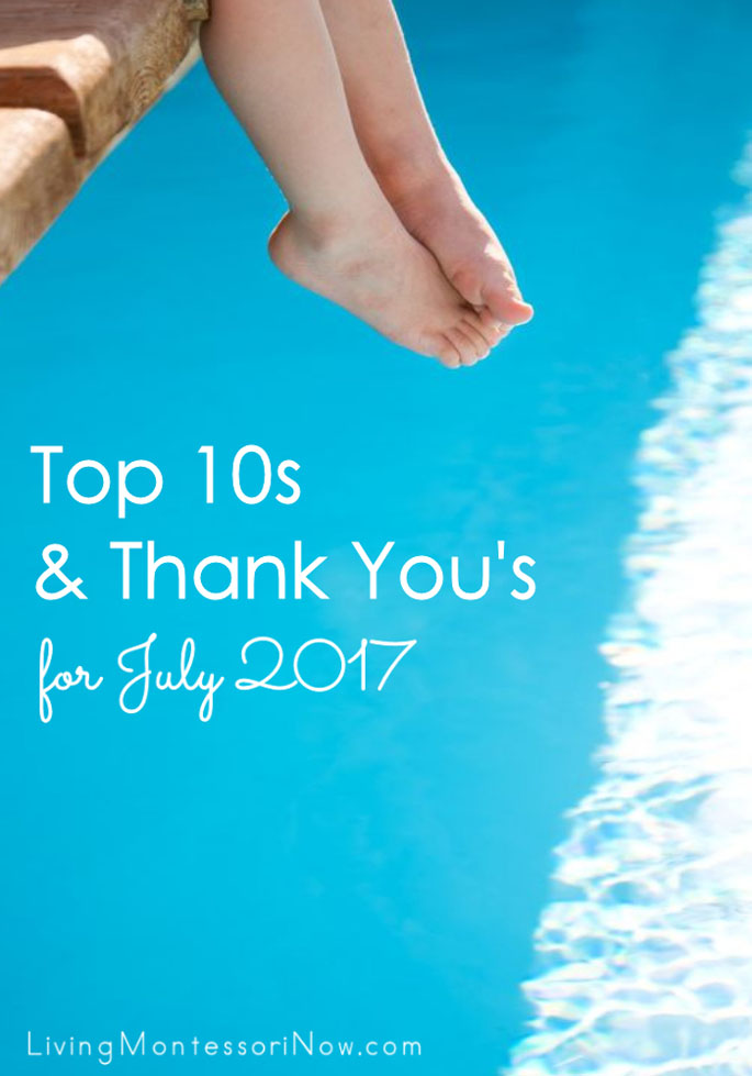 Top 10s and Thank You's for July 2017