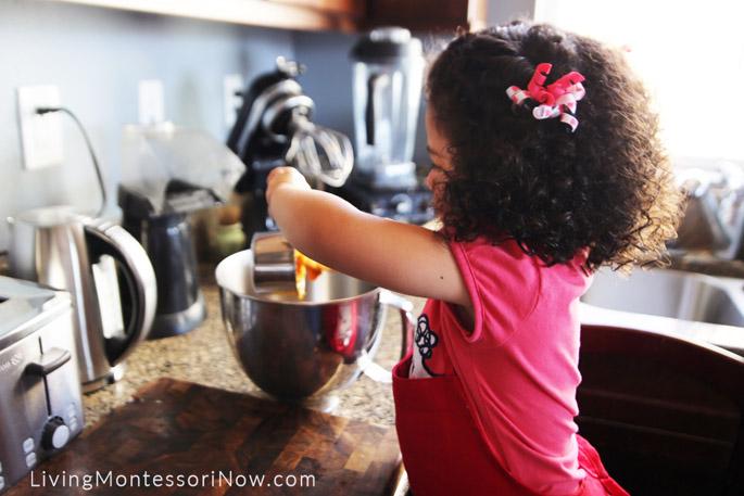 Adding Pumpkin to Gluten-Free Pumpkin Muffin Batter