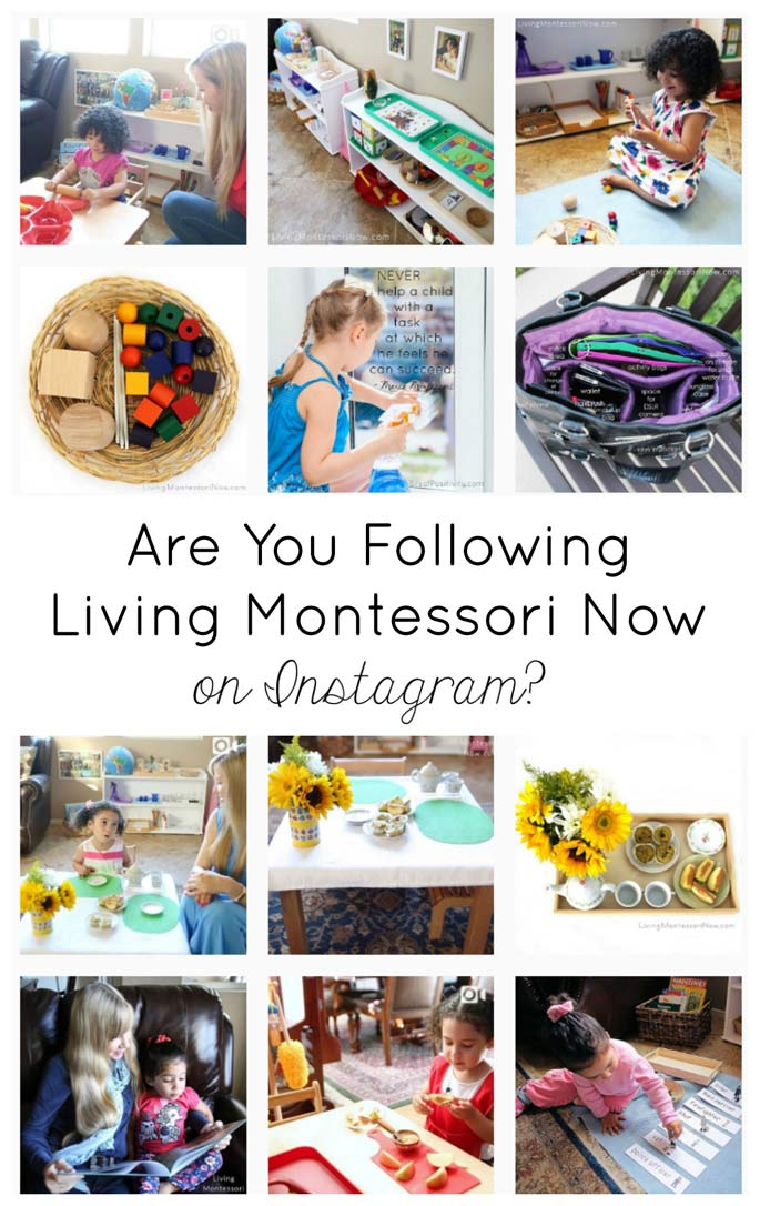 Are You Following Living Montessori Now on Instagram? {Montessori Monday}