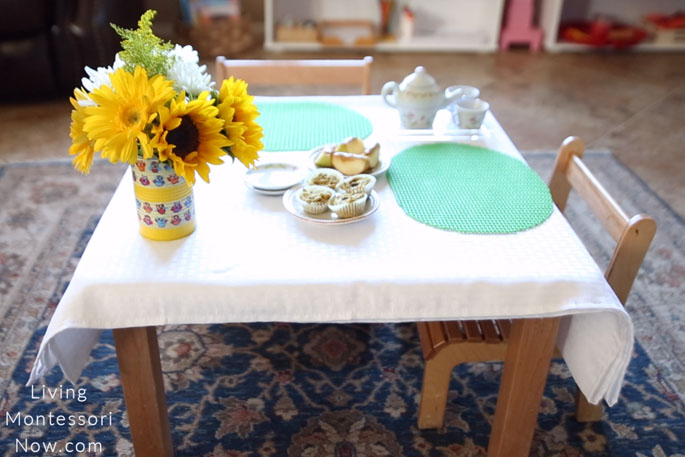 First-Day-of-School Tea Party Setup