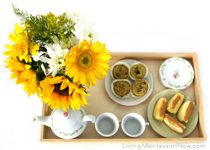 First-Day-of-School Tea Party Tray
