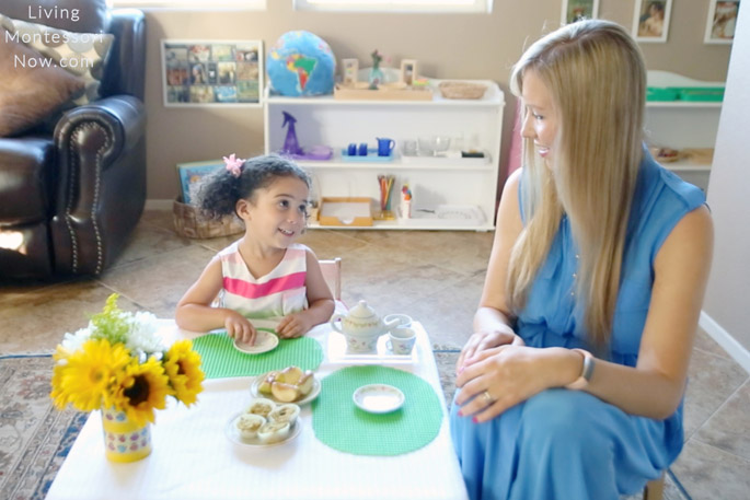 Manners Practice at First-Day-of-School Tea Party