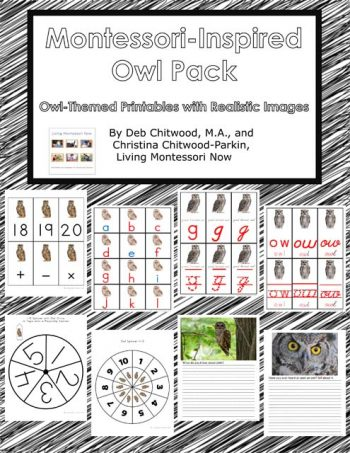 Montessori-Inspired Owl Pack