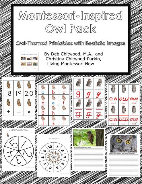 Montessori-Inspired Owl Pack