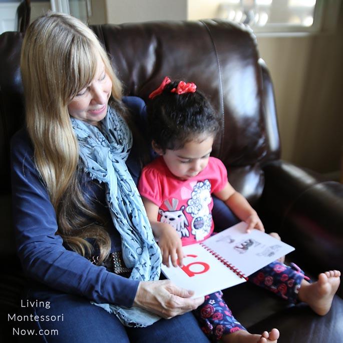 Reading an Alphabet Book to Grandma