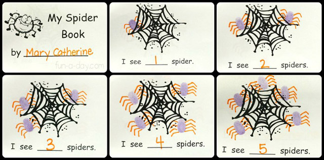 Spider Counting Book (Image from Fun-a-Day)