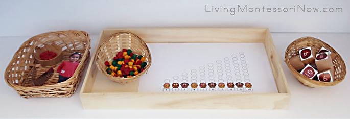 Ten Apples Up On Top Activities with Spielgaben Materials on Math Shelf