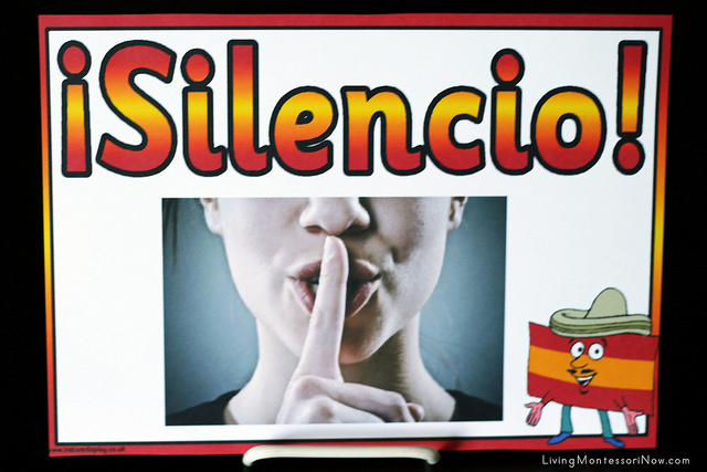 Spanish Silence Sign