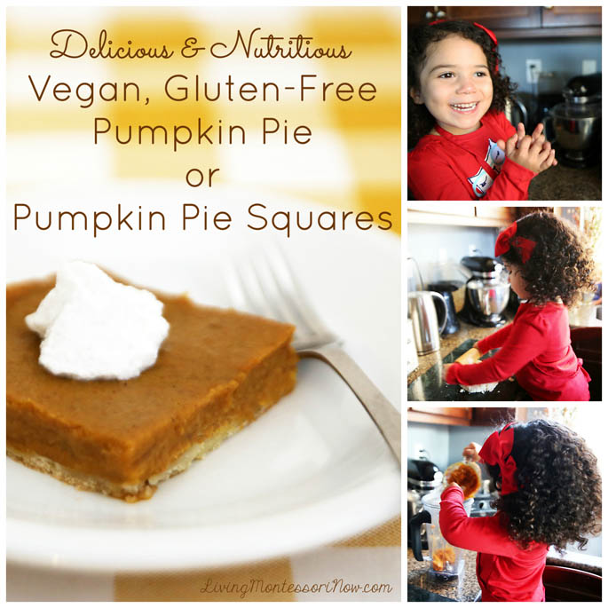 Delicious and Nutritious Vegan, Gluten-Free Pumpkin Pie or Pumpkin Pie Squares
