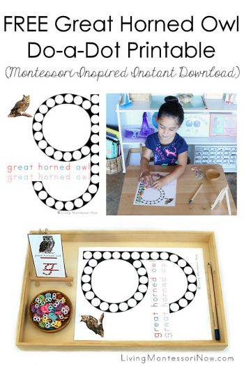 FREE Great Horned Owl Do-a-Dot Printable