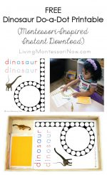 Free Dinosaur Do-a-Dot Printable (Montessori-Inspired Instant Download) – Montessori Monday