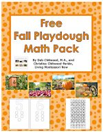 Free Fall Playdough Math Pack (Montessori-Inspired Instant Download) {Montessori Monday}