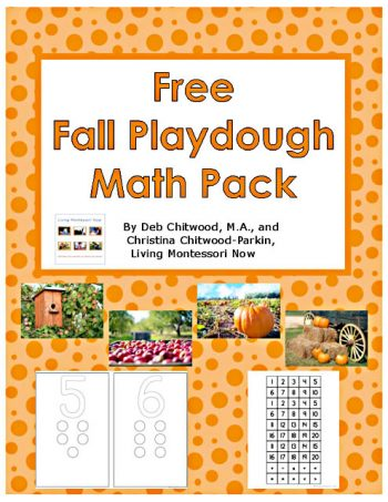 Free Fall Playdough Math Pack {Instant Download}