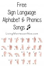 Free Sign Language Alphabet and Phonics Songs