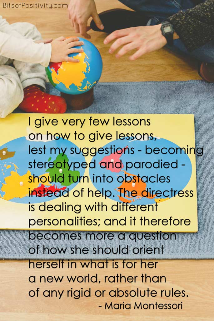 """""""I Give Very Few Lessons on How to Give Lessons"""" Montessori Word Art Freebie"""
