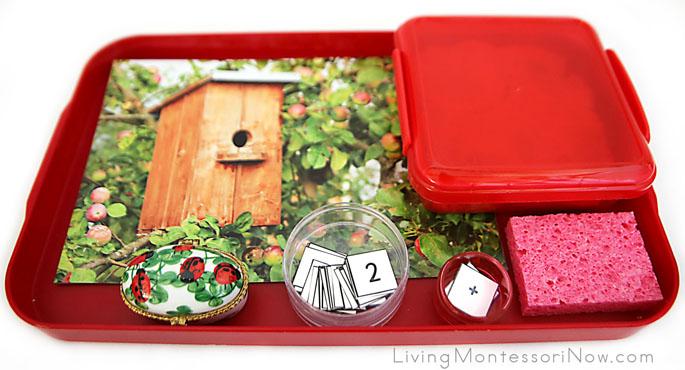 Montessori-Inspired Apple Playdough Math Tray
