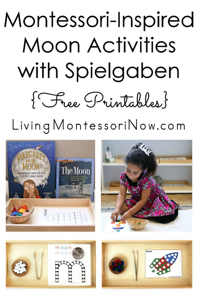 Montessori-Inspired Moon Activities with Spielgaben {Free Printables}