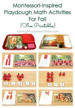 Montessori-Inspired Playdough Math Activities for Fall {Free Printables}