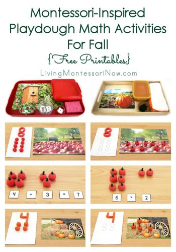 Montessori-Inspired Playdough Math Activities for Fall {Free Printables}