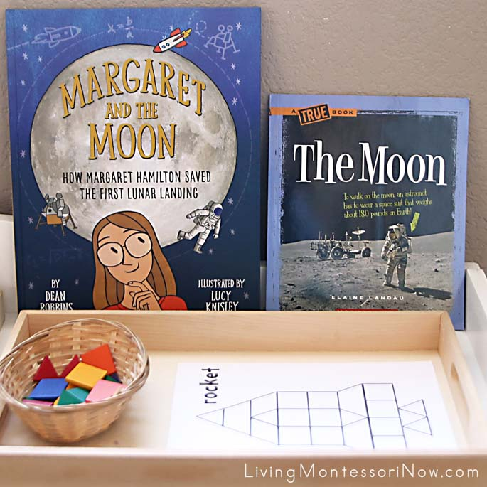 Moon Books with Rocket-Building Tray