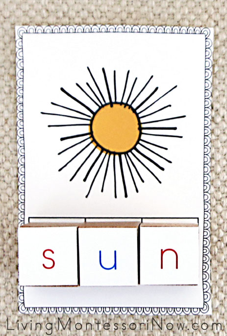 Phonetic CVC Picture and Letter Cube Word