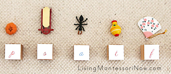 Phonetic Objects with Beginning Letter Sound Cubes
