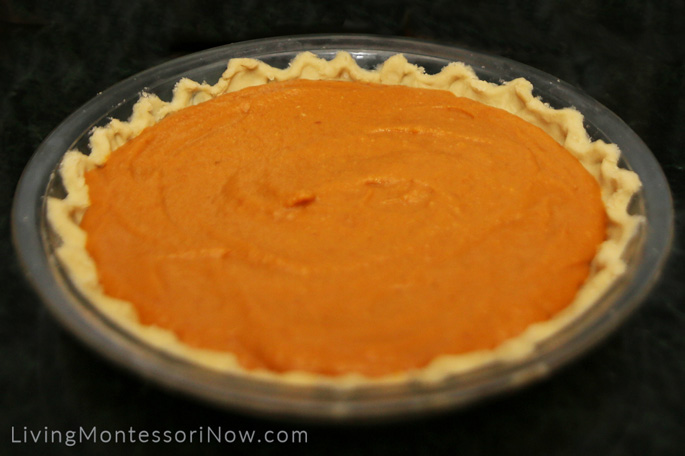 Vegan, Gluten-Free Pumpkin Pie Ready to Bake