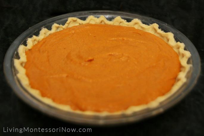 Vegan, Gluten-Free Pumpkin Pie Ready to Bake