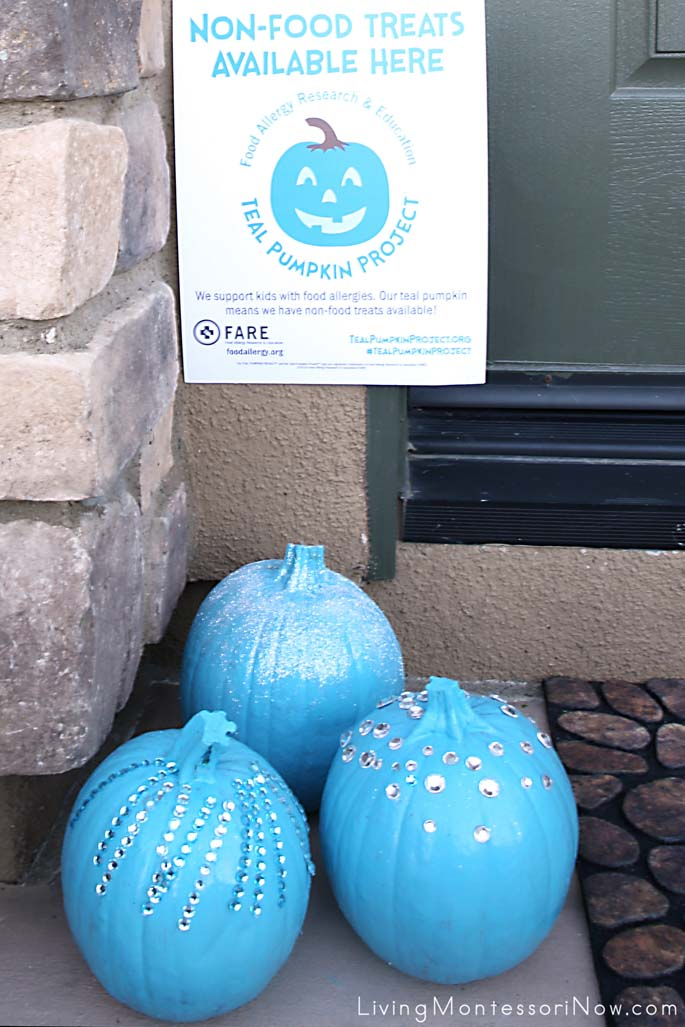 Teal Pumpkin Project House Display