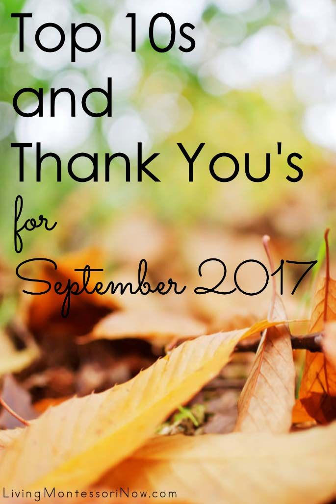 Top 10s and Thank You's for September 2017