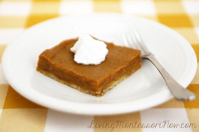 Vegan, Gluten-Free Pumpkin Pie Square
