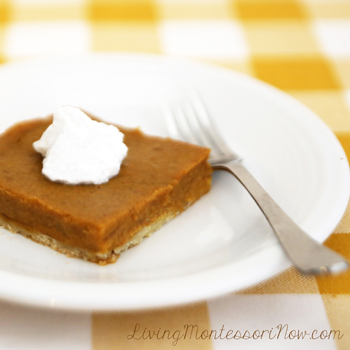 Delicious and Nutritious Vegan, Gluten-Free Pumpkin Pie Squares
