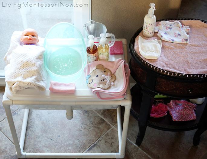 Baby Doll Washing Setup