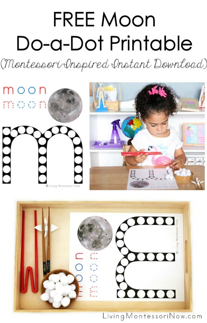FREE Moon Do-a-Dot Printable (Montessori-Inspired Instant Download)