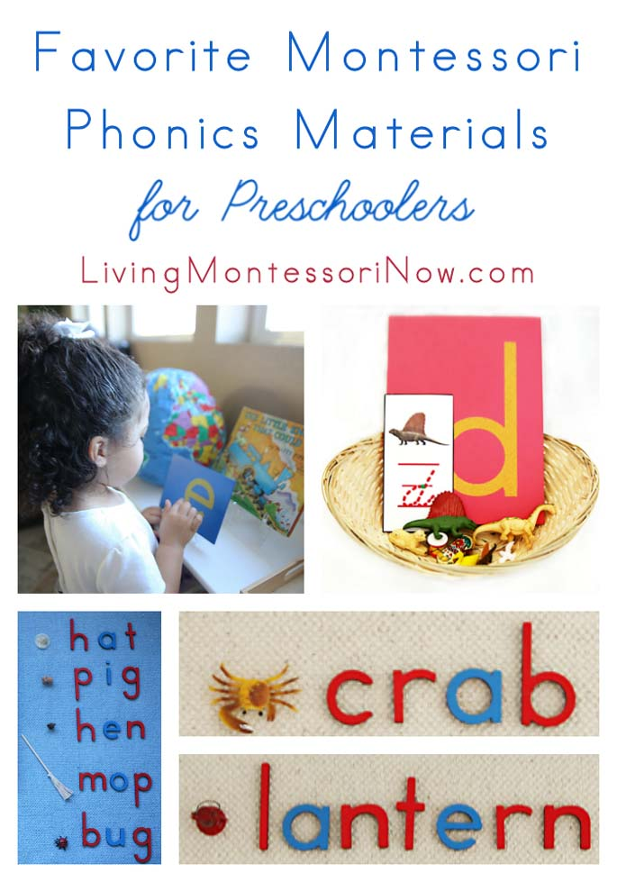 Favorite Phonics Materials for Preschoolers