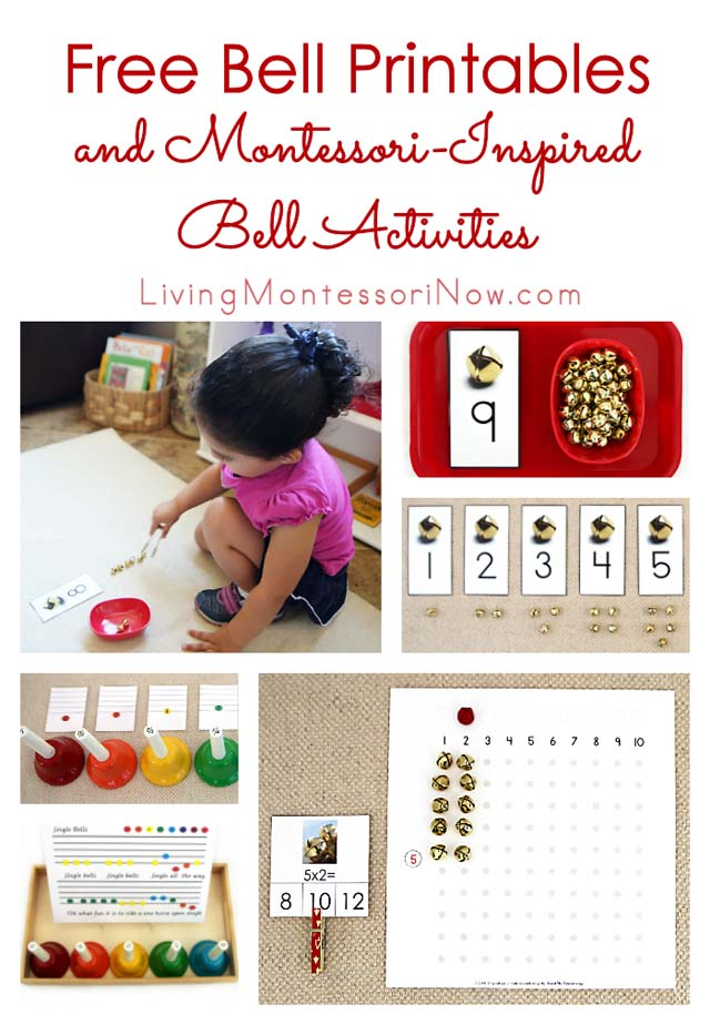 image relating to Free Printable Bell Ringers known as No cost Bell Printables and Montessori-Motivated Bell Functions