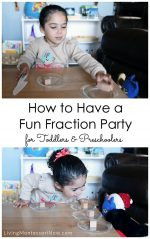 How to Have a Fun Fraction Party for Toddlers and Preschoolers