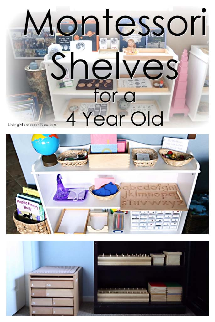 How to Prepare Montessori Shelves for a 4 Year Old